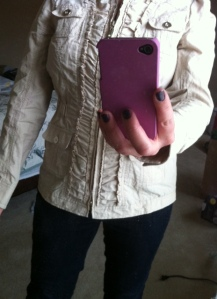 It's like a utility jacket with ruffles. I'm in love.