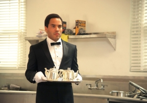 Sorry, had to go with this pic of Lenny as butler and not Forest Whitaker because: Lenny.