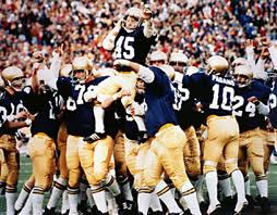 Enjoy this photo of Rudy as he is carried off the field. This is how I envision the end of my diving board contest, when I win, obviously.